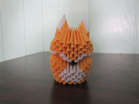 3d Origami Fox - how to make a 3d origami fox part 1