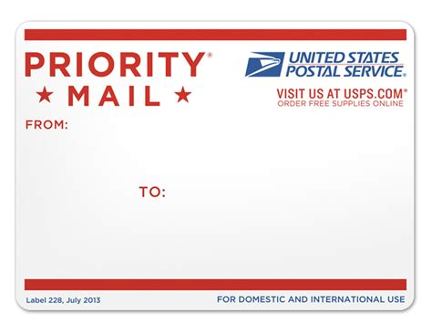 mail label template priority mail address label