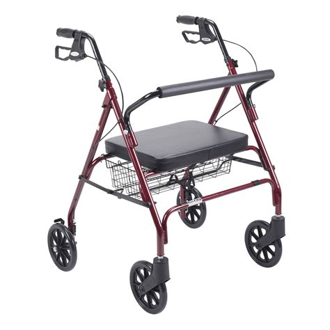 rollator with seat rs18 10215rd 1 heavy duty bariatric rollator walker with