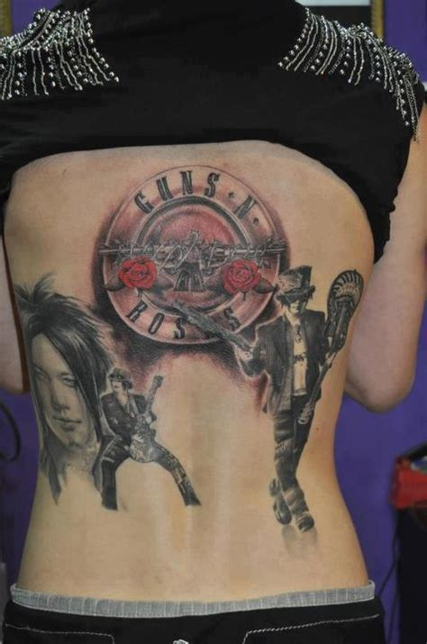 gun n roses tattoo collection of 25 guns and roses tattoos on back