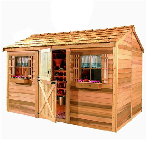 shop cedarshed common 10 ft x 8 ft interior dimensions