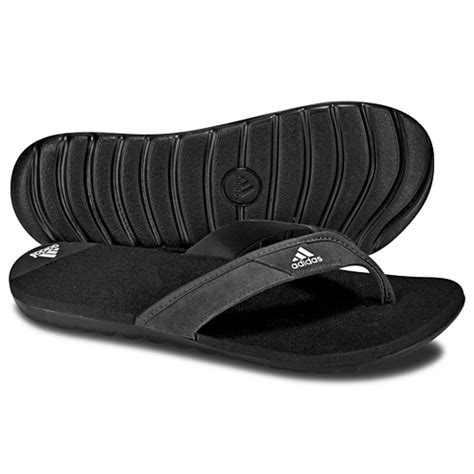 adidas comfort flip flops new mens adidas calo leather black slide flip flops