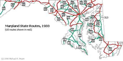 maryland driving map mdroads state highways