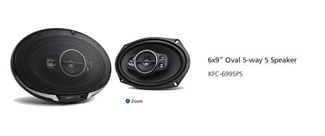 Speaker Oval Kenwood kfc 6995ps 6x9 quot oval 5 way 5 speaker speakers car entertainment kenwood usa