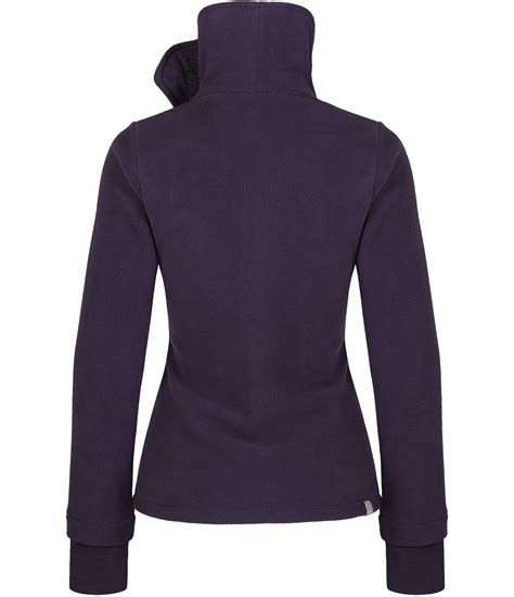 bench funnel neck fleece bench funnel neck zip up fleece top in purple lyst