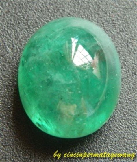 Zamrud Zambia Asli E cincin permata gewang batu permata zamrud zambia asli kod