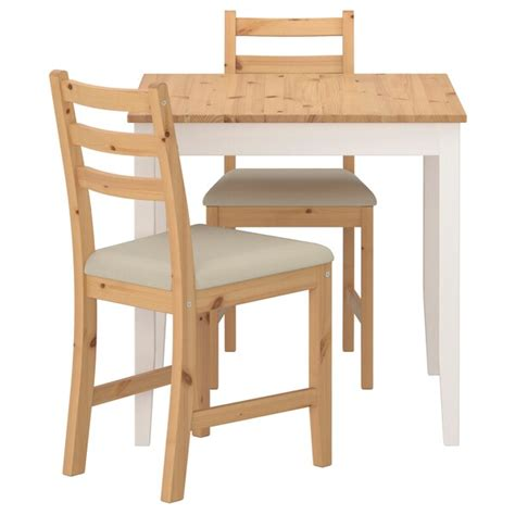 lerhamn table   chairs light antique stain white