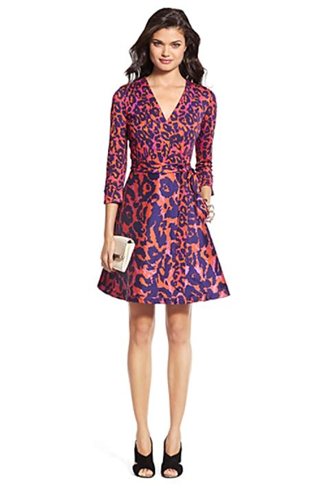 Dvf Dresses by Heritage Dvf Amelia Silk Combo Flared Wrap Dress Sale By Dvf