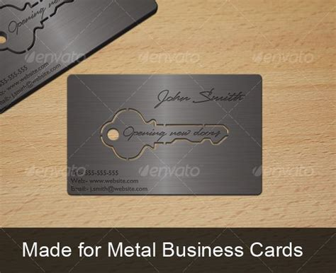 metal key business card business cards key  business