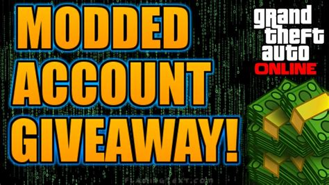 Gta 5 Giveaway - gta 5 modded account giveaway link in the description youtube