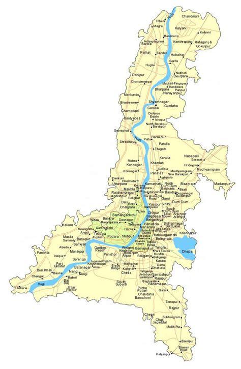 bengal india map greater kolkata map kolkata map west bengal india