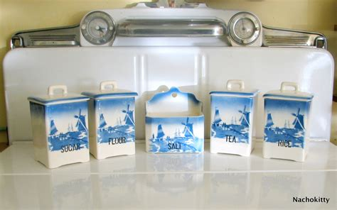 cobalt blue kitchen canisters antique kitchen canisters cobalt blue by barnowlgoods on etsy