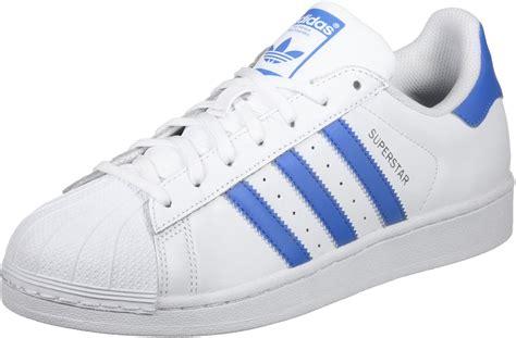 adidas superstar schuhe weiss blau