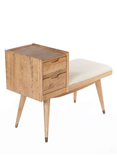 bench drawer wooden bench with drawer modern furniture brickell collection