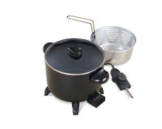 Presto Kitchen Kettle Electric Multi Cooker Presto Fryer 600010 0600010 Basket Steamer