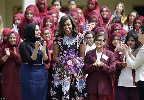 michelle obama in london michelle obama inspires hundreds of girls at london school