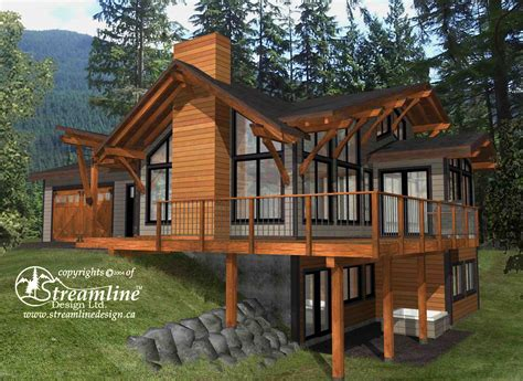 lake timber frame plans 3937sqft streamline design