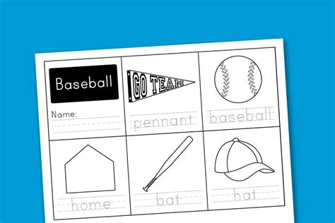 printable baseball activity sheets worksheet wednesday baseball handwriting paging supermom