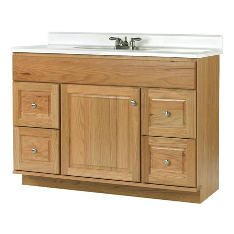 allen roth castlebrook honey bathroom vanity actual       lowescom