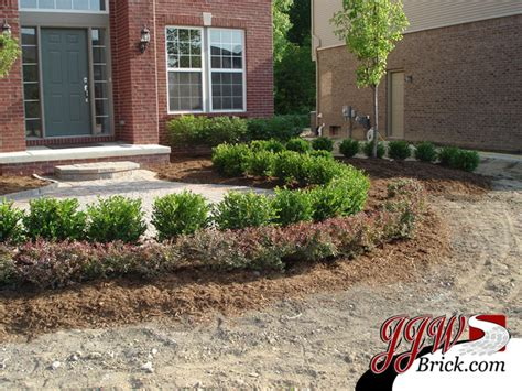 brick wall front yard front yard landscaping design photos traditional