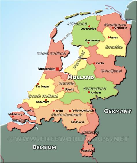 netherlands map facts facts about for map