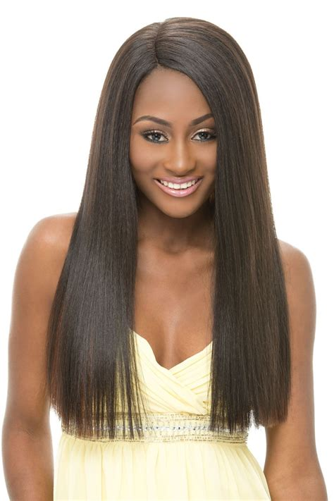 natural free flowing invisible weave janet collection super flow invisible deep part lace front