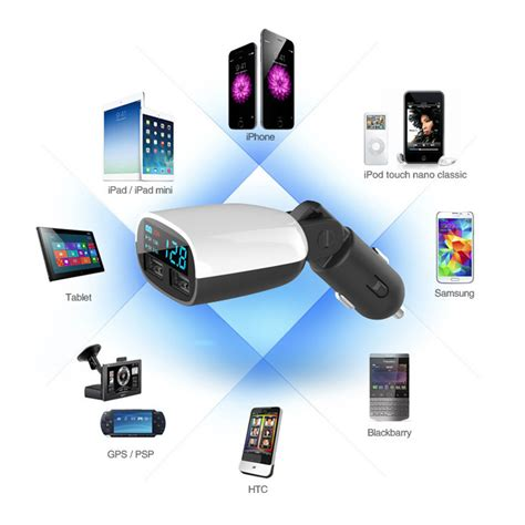 Car Charger Dual Usb dual usb port car charger adapter with led screen for samsung s7 iphone 6 plus 7 ebay