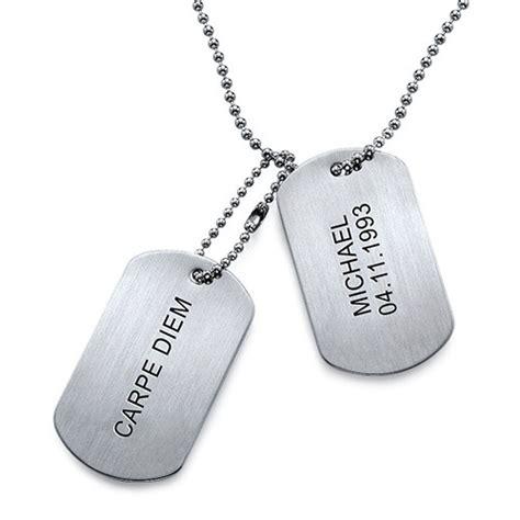 cadenas con chapas militares placas militares grabadas en acero inoxidable