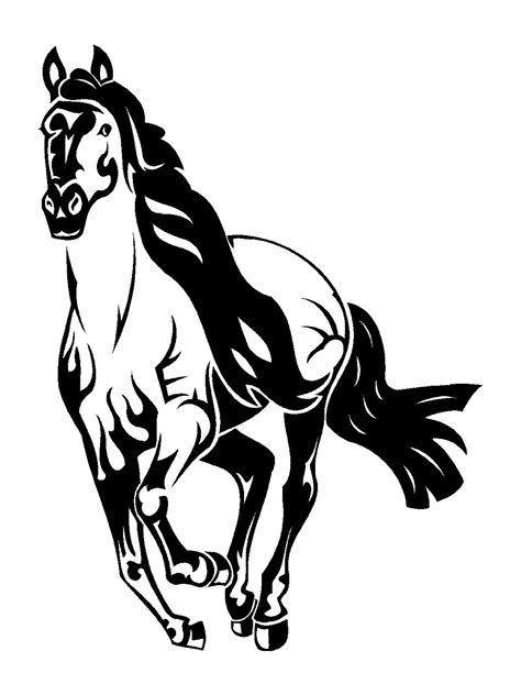printable horse stickers mustang horse coloring pages 22515 bestofcoloring com