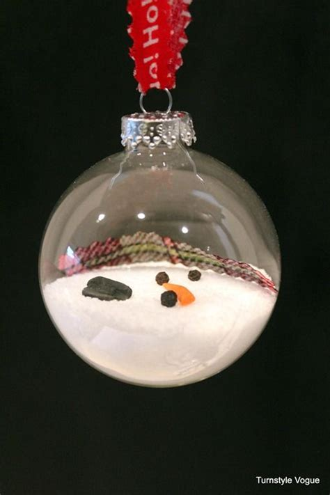 ideas  melted snowman ornament  pinterest