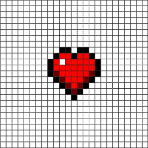 heart grid pattern minecraft 2d pixel art ideas minecraft pixel art