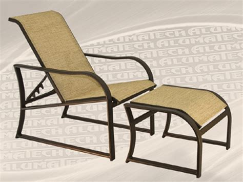 Reclining Patio Chairs With Ottoman by Outdoor Patio Reclining Sling Chair With Ottoman Chair Design Ideas