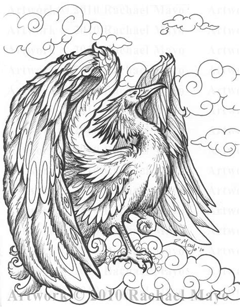 free phoenix bird coloring pages
