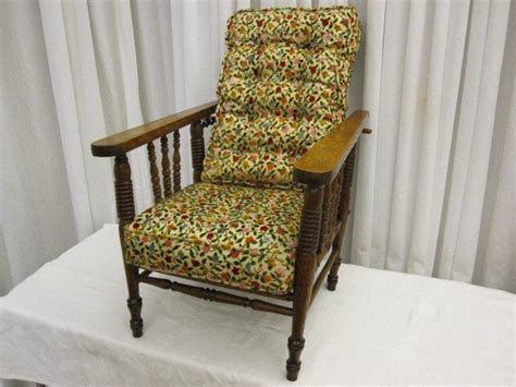 morris reclining chair antique antique oak child s morris recliner chair w cushions for