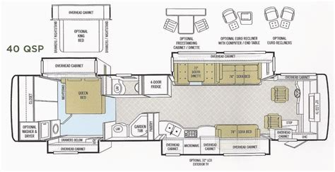 Montana Floor Plans by 2008 Tiffin Allegro Bus Photos Details Brochure Floorplan