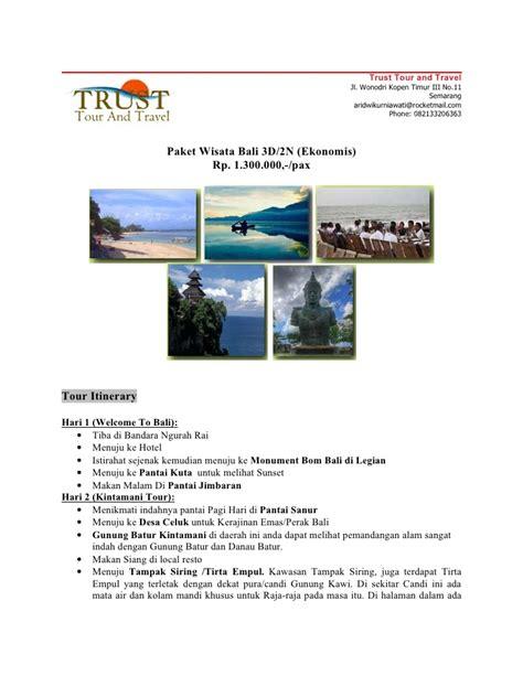 Paket Murah Meriah Perlengkapan Outdoor paket tour bali murah meriah