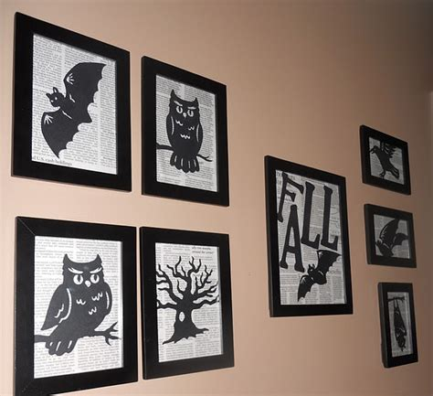 free printable halloween wall decorations be different act normal halloween silhouette wall decor