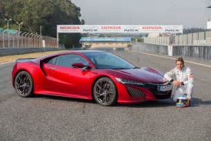 The Honda Fernando Alonso Drives The 2017 Honda Nsx Digs The Brakes