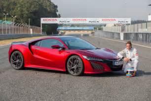 Is Acura Made By Honda Fernando Alonso Drives The 2017 Honda Nsx Digs The Brakes