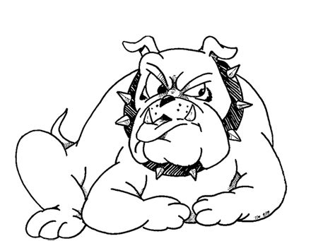 Free Coloring Pages Of Msu Bulldogs Bulldog Coloring Pages