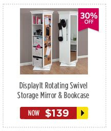 rotating swivel storage mirror and bookcase dealsdirect pre boxing day furniture sale up to 50