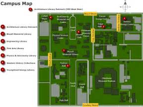Oklahoma State University Campus Map by University Of Oklahoma Campus Map