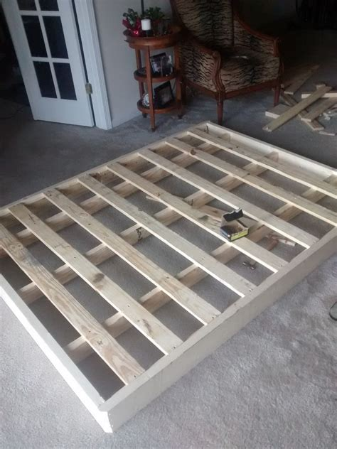 Re Building A Bed Foundation Box And Spring How To Build A Box Bed Frame