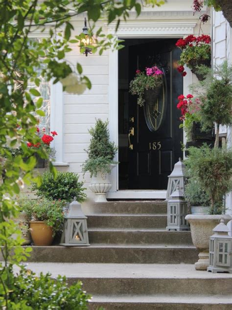 front door  plant color combos hgtv