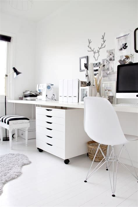 White Office Desk Ikea Not Shabby Ikea Alex Drawer Units