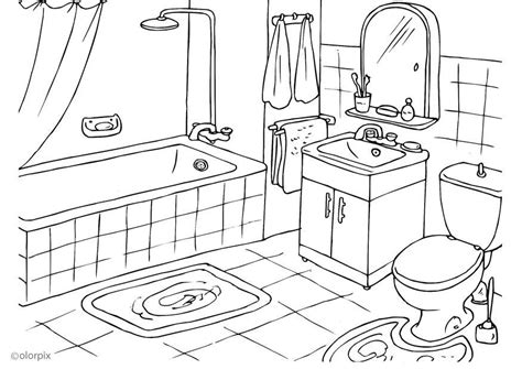 coloring page bathroom coloring page bathroom img 25994