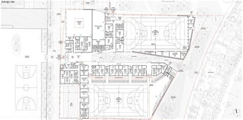 Basement Floor Plans gallery of multi sports complex competition winning