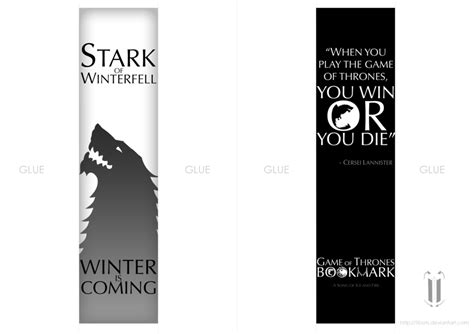 printable bookmarks game of thrones game of thrones bookmark by tibots on deviantart