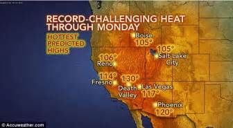 Valley Temperature Record Valley Records 129 9 Degrees Sunday The Highest June Temperature In