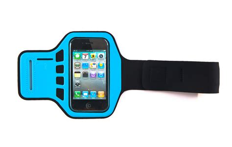 Arm Band Untuk Iphone 4g4s blue armband cover iphone 4 4g 4s supreme quality running